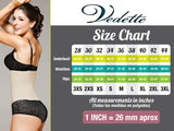 Vedette 925 Carine Underbust Booster Bodysuit in Thong-Black-S (34)