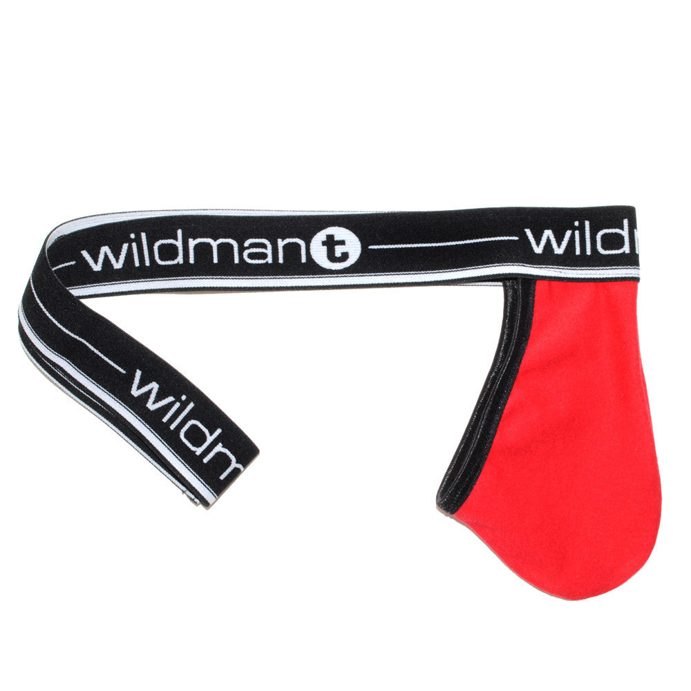WildmanT Big Boy Pouch Strapless Jock Red