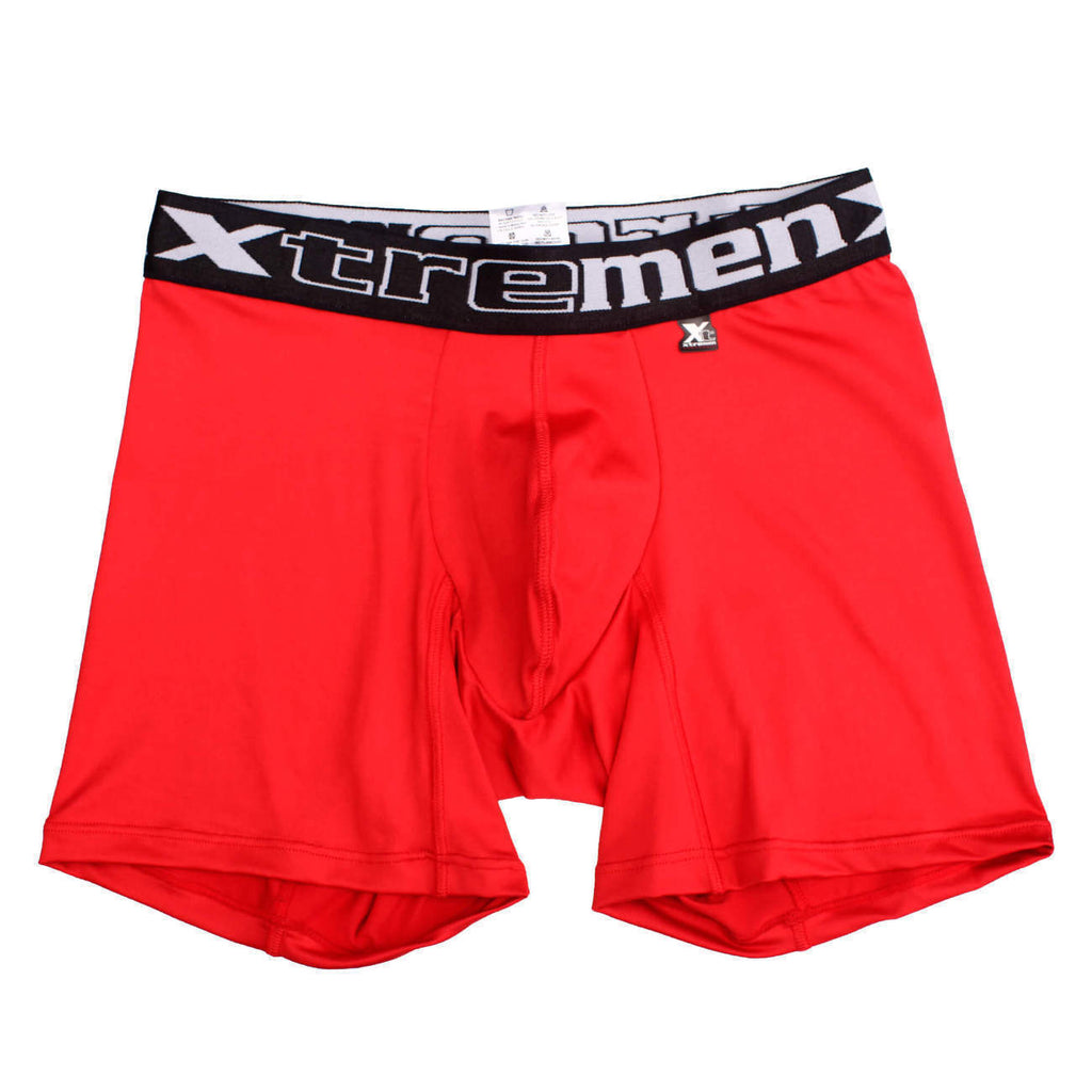 Xtremen 51326 Microfiber Sport Boxer Color Red
