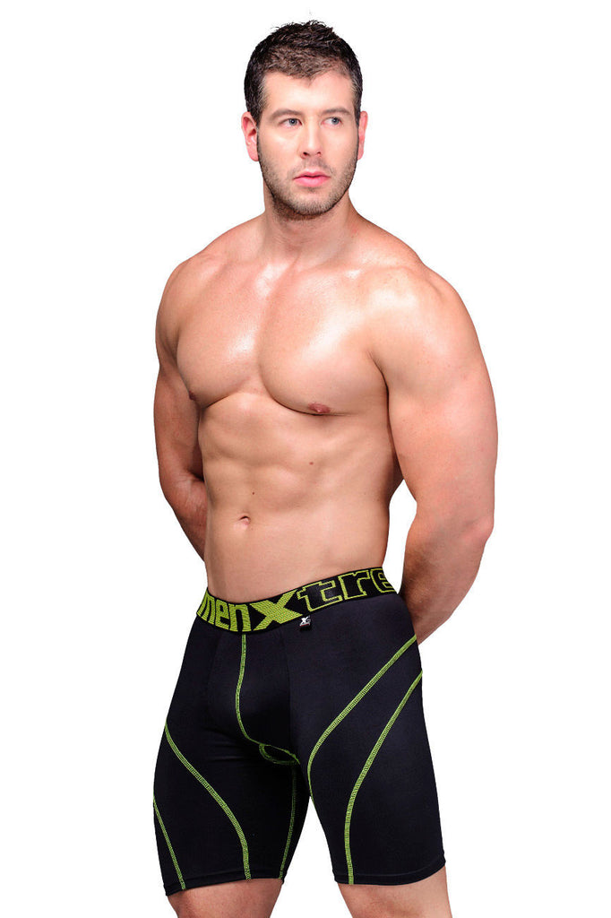 Xtremen 51371 Cycling Padded Boxer Briefs Color Black