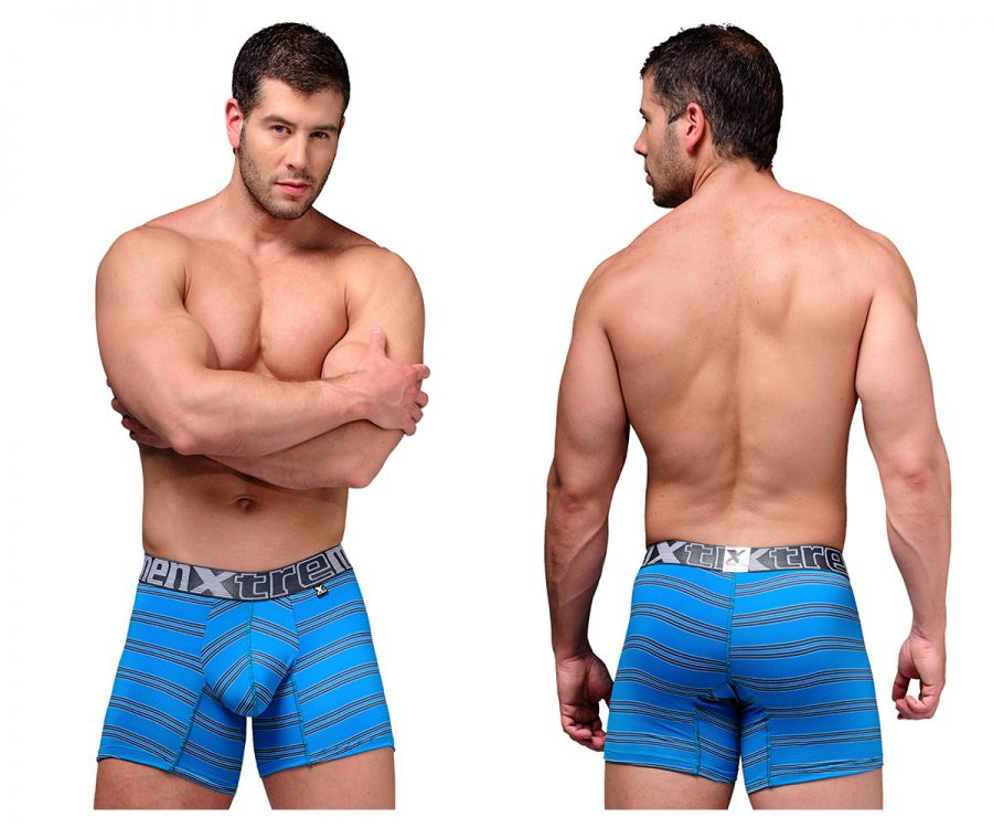 Xtremen 51376 Microfiber Boxer Briefs Color Blue
