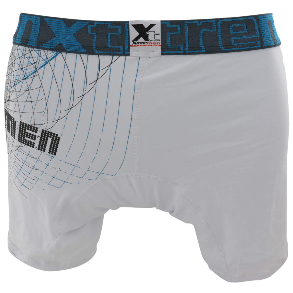 Xtremen 51377 Printed Boxer Briefs Color White
