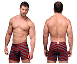 Xtremen XM-51382 Cotton Boxer Briefs-Red-XL