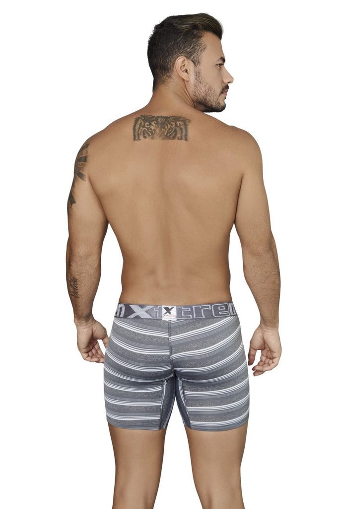 Xtremen 51415 Boxer Briefs Microfiber Stripes Color Gray