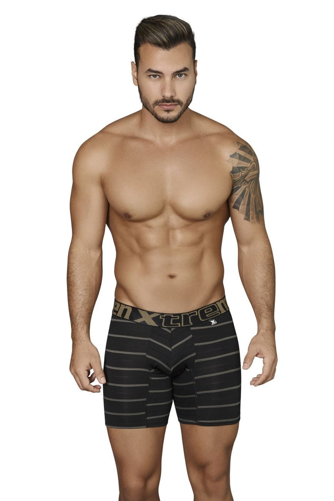 Xtremen 51417 Boxer Briefs Microfiber Stripes Color Black