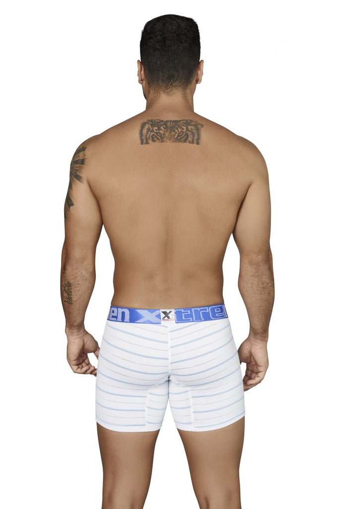 Xtremen 51417 Boxer Briefs Microfiber Stripes Color White