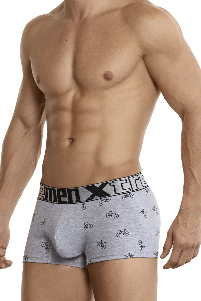 Xtremen 51437C Cycling Print Boxer Briefs Color Light Gray