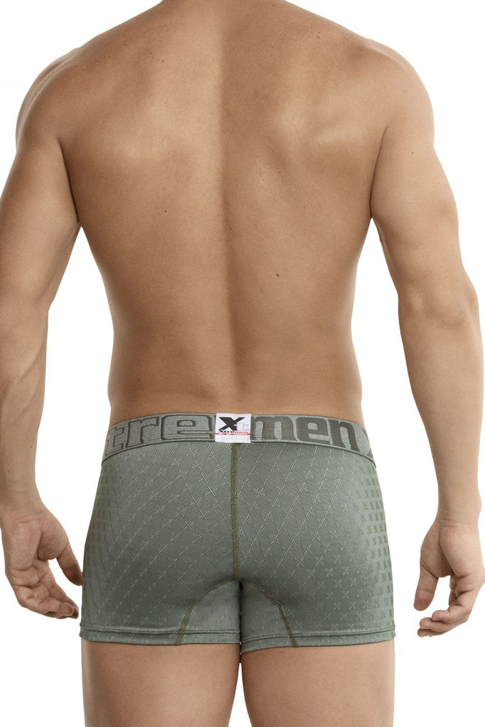 Xtremen 51442C Jacquard -X- Boxer Briefs Color Green