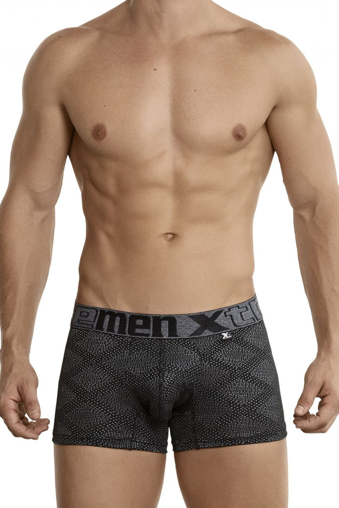Xtremen 54446C Jacquard Stripes Boxer Briefs Color Black