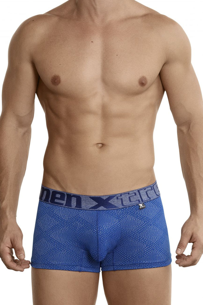 Xtremen 54446C Jacquard Stripes Boxer Briefs Color Blue