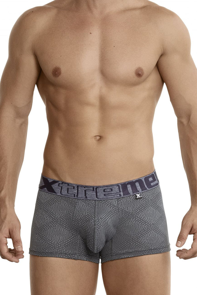 Xtremen 54446C Jacquard Stripes Boxer Briefs Color Gray