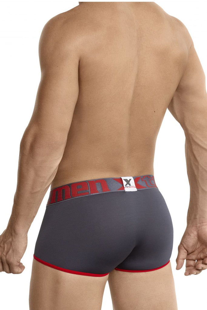 Xtremen 91035 Mini Short Boxer Briefs Color Gray-Red