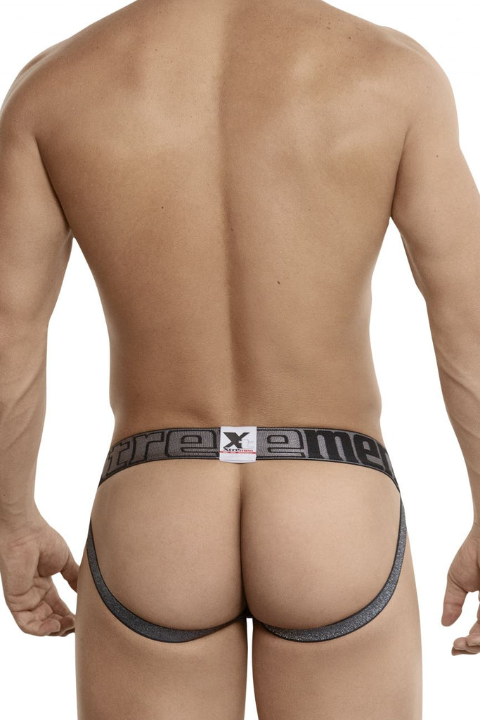 Xtremen 91047 Jacquard Stripes Jockstrap Color Gray