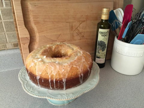 Knaughty Farms Lemon Rosemary Olive Oil Cake