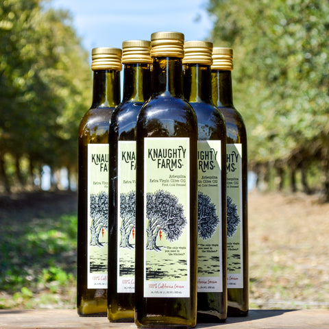 Knaughty Farms® Arebequina Extra Virgin Olive Oil
