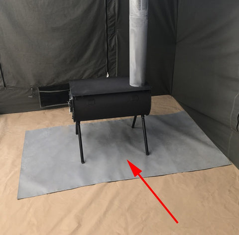 Kodiak Cabin Lodge Tent Stove Mat