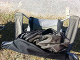 Oztent King Goanna Chair Top View with carry bag