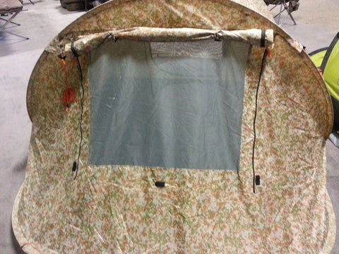 Malamoo Camo XTRA 3 Second Tent Window Open & Oztent Malamoo Camo XTRA 3 Person 3 Second Tent