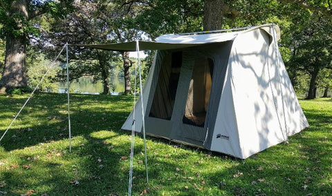Kodiak Flexbow Canvas Tent 10x10 Deluxe