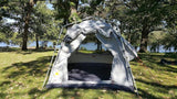 Oxley 5 Lite Tent - Front Solid Door & Screen Tied Back