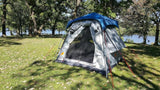 Oxley 5 Lite Tent - Front Awning Rolled Up