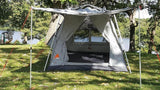 Oxley Lite 7 Tent - Front View - Solid & Screen Open