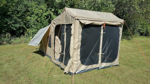 Oztent RX 4 Deluxe Tent with Front Room Panels - Open