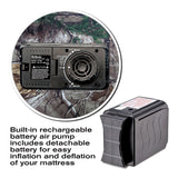 Built in Air Pump & Rechargeable Battery