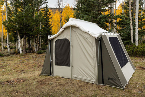 Incroyable Kodiak Canvas Deluxe Cabin Tent With Awning Rolled Up