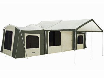 Kodiak Grand Cabin Tent with Awning 26x8  sc 1 st  Family Tent C&ing & Multi Room Camping Tents | Large Multi Room Tent