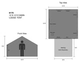 Kodiak Canvas Cabin Lodge Dimensions