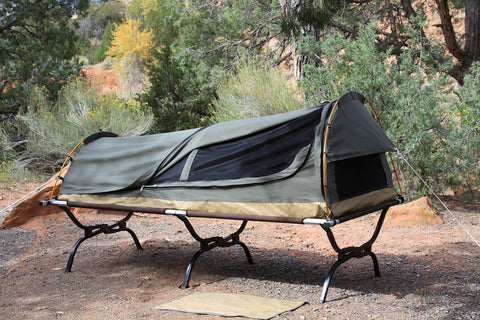 Use with Compatible 85u201dx 40u201d Cot & Kodiak 8101 Swag 1 Person Canvas Tent