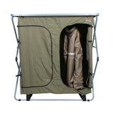 Sierra 4 Shelf Double Camp Cupboard- Hanging Items