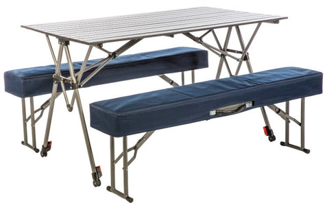 Kamp Rite Picnic Table with Padded Benches - KSTB224