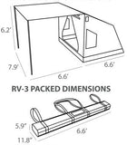 Oztent RV 3 Tent - Dimensions