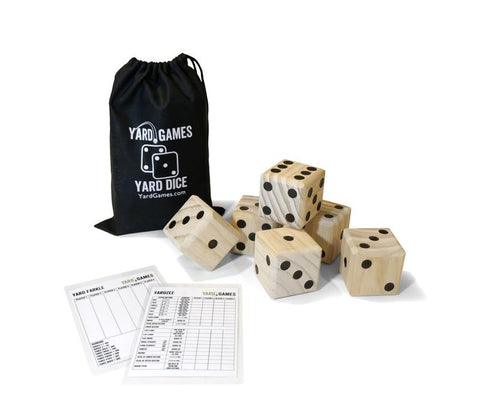 Wooden dice with scoresheets & carry bag