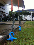 Bluescrew Ground Anchor and RV Awning Up Close