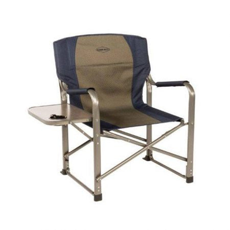 kamp rite director chair with side table