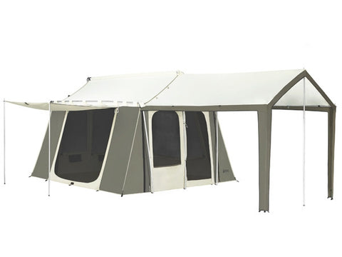 Kodiak Canvas Deluxe Cabin Tent with Awning - Front