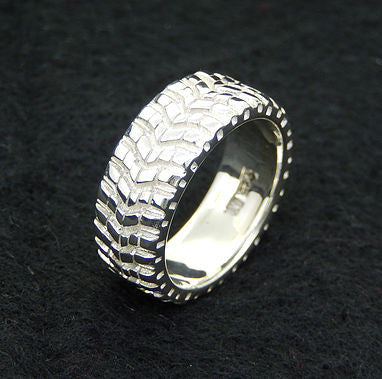 Mickey Thompson Baja Sterling Silver Tread Ring