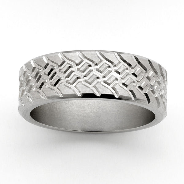 Titanium Treadz Ring No1