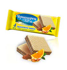 Crispy wafers Chernomoretz - 4 pcs