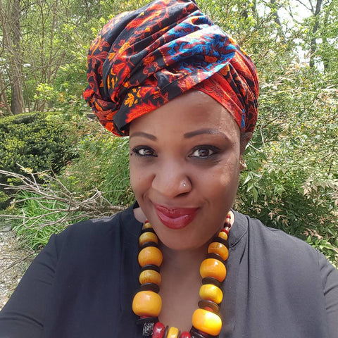"African Head wrap ""Orange Moon"" Chic"
