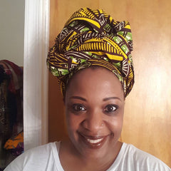 African Headwrap Limeade Chic