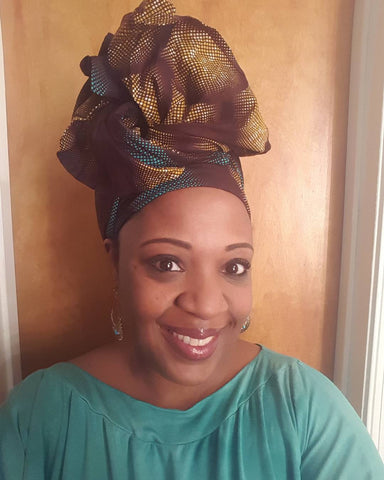 African Headwrap Milky Way Chic