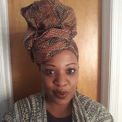African Headwrap Brown Suga' Chic