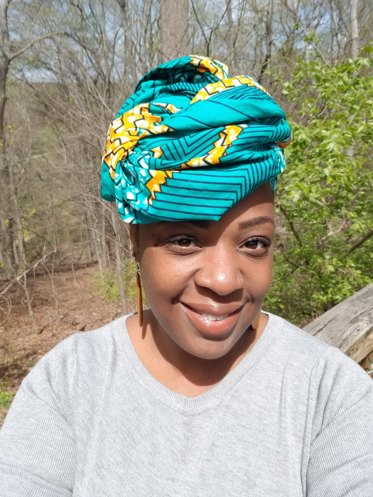 "African Head wrap ""Carribean"" Chic"