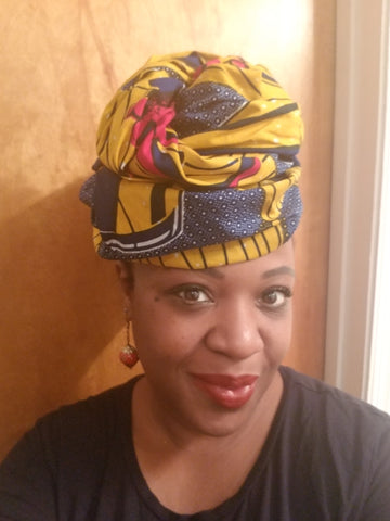 African Headwrap Paintbrush Chic