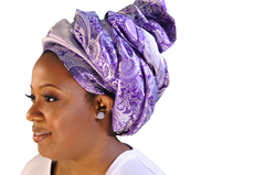 "African Head wrap ""Royalty"" Couture"