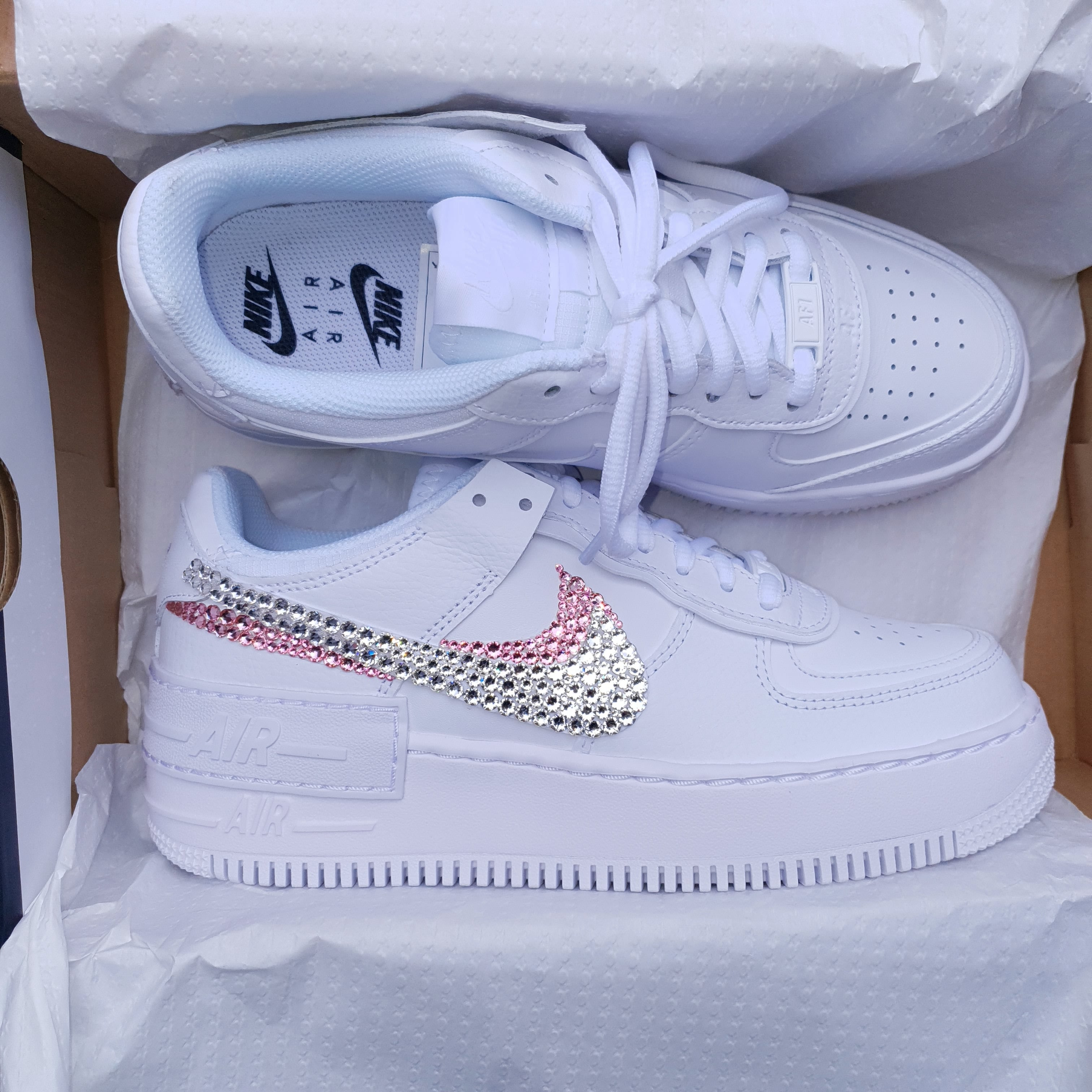 Nike Air Force 1 Shadow Women's Sneakers Pale Pink Red